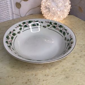 Fine China Holly Serving Bowl